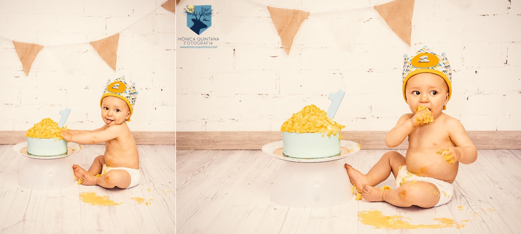 fotografia, fotografo, fotografa, estudio fotos, girona, figueres, emporda, monica quintana, bebes, niños, familia, retrato, cumpleaños, un año, smash the cake, celebracion, fiesta, pastel, hermanos