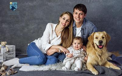 Fotos de familia y perro en Figueres (Girona)
