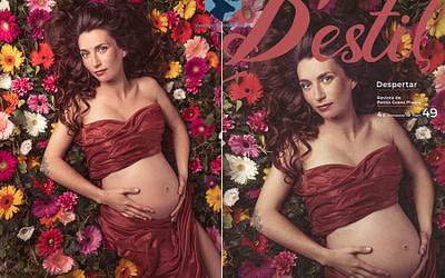 Fotos de embarazo en Figueres para portada de revista