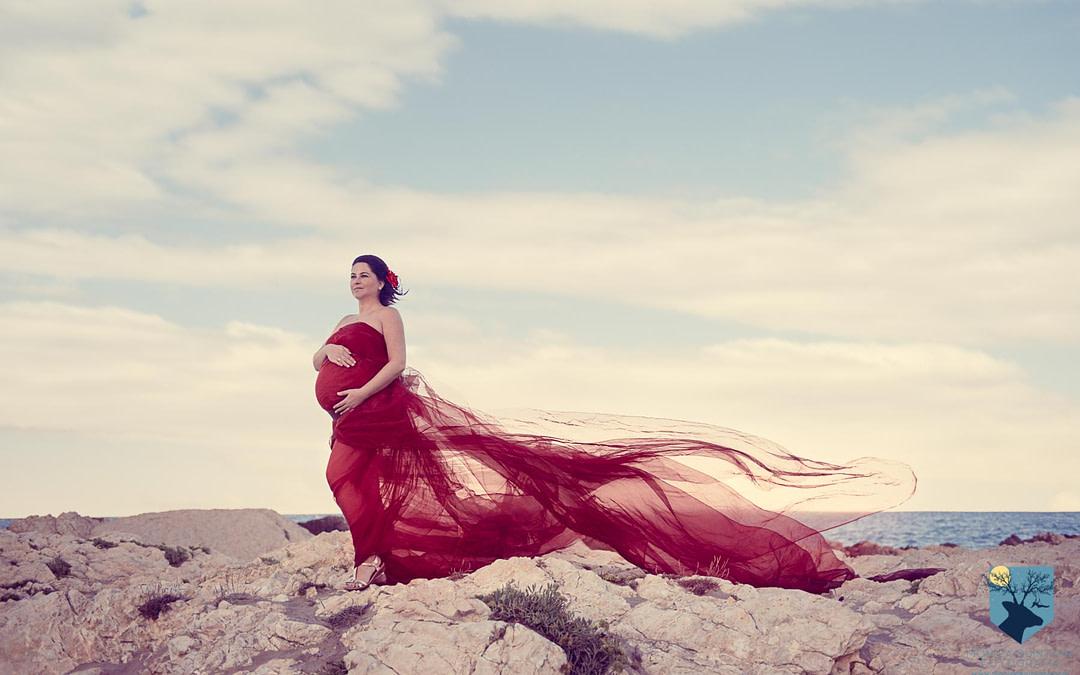 Fotos de embarazo en la playa (Girona)