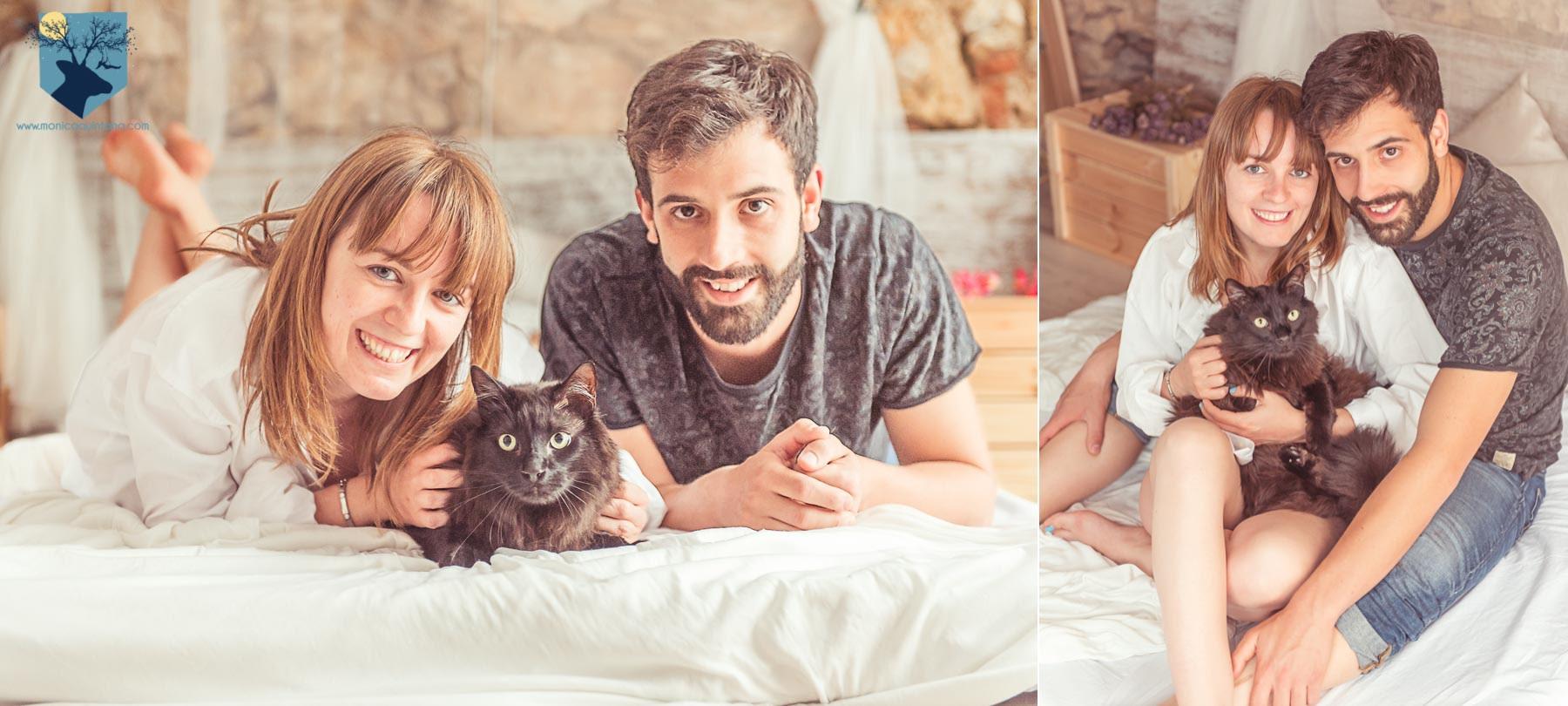 fotografia, girona, figueres, emporda, monica quintana, retrato, book, pareja, gato, estudio, lifestyle