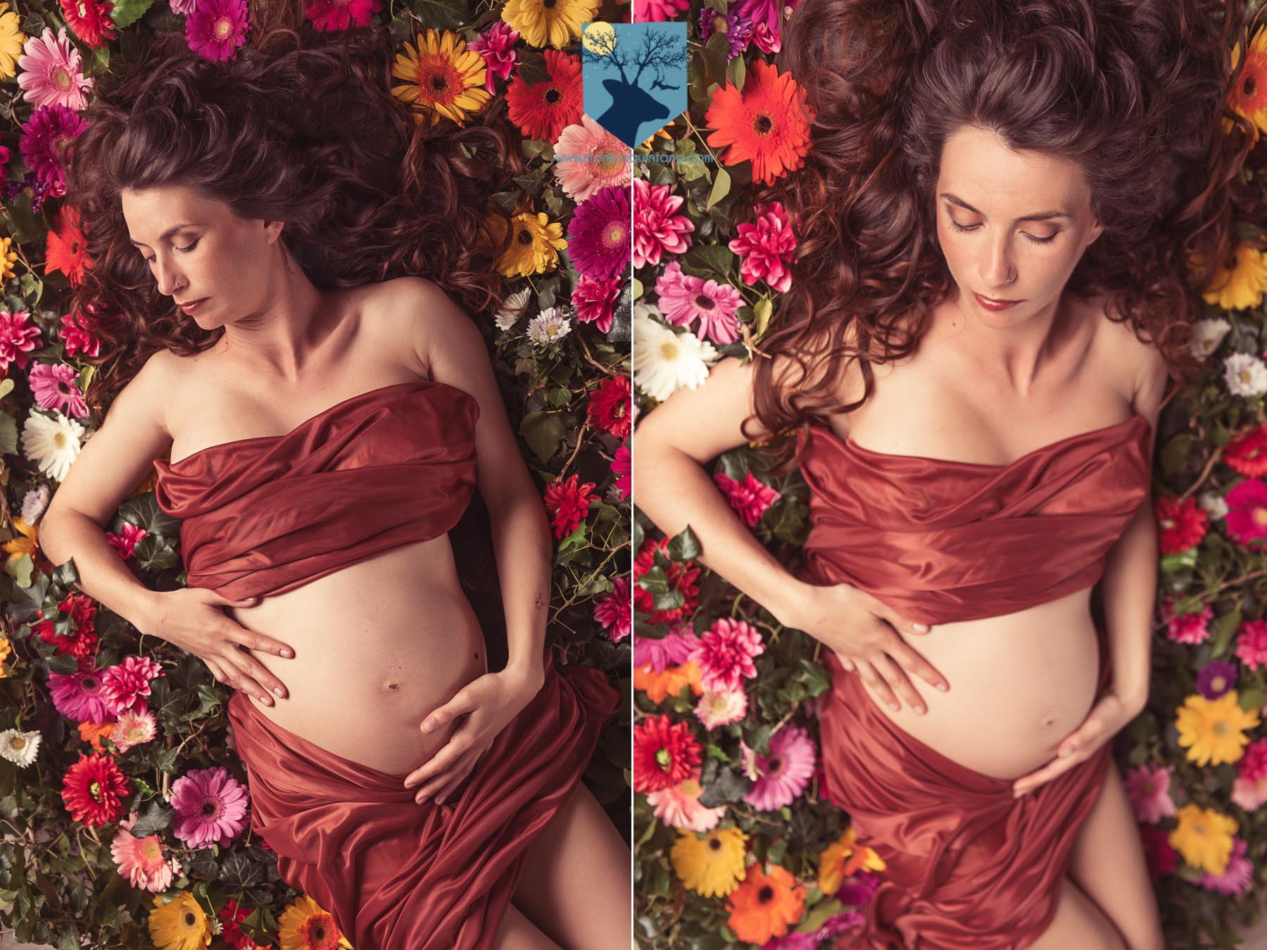 fotografia-girona-figueres-emporda-monica-quintana-familia-retrato-embarazo-estudio-flores-primavera-3