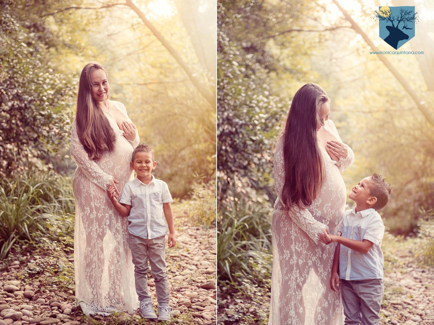 fotografia fotos girona figueres emporda monica quintana familia retrato embarazo hermanos